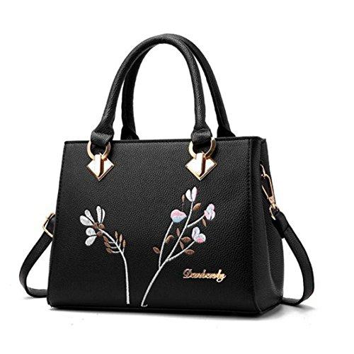 Top Handle Handbag for Women,Retro Flower Totes Satchel Shoulder Bags