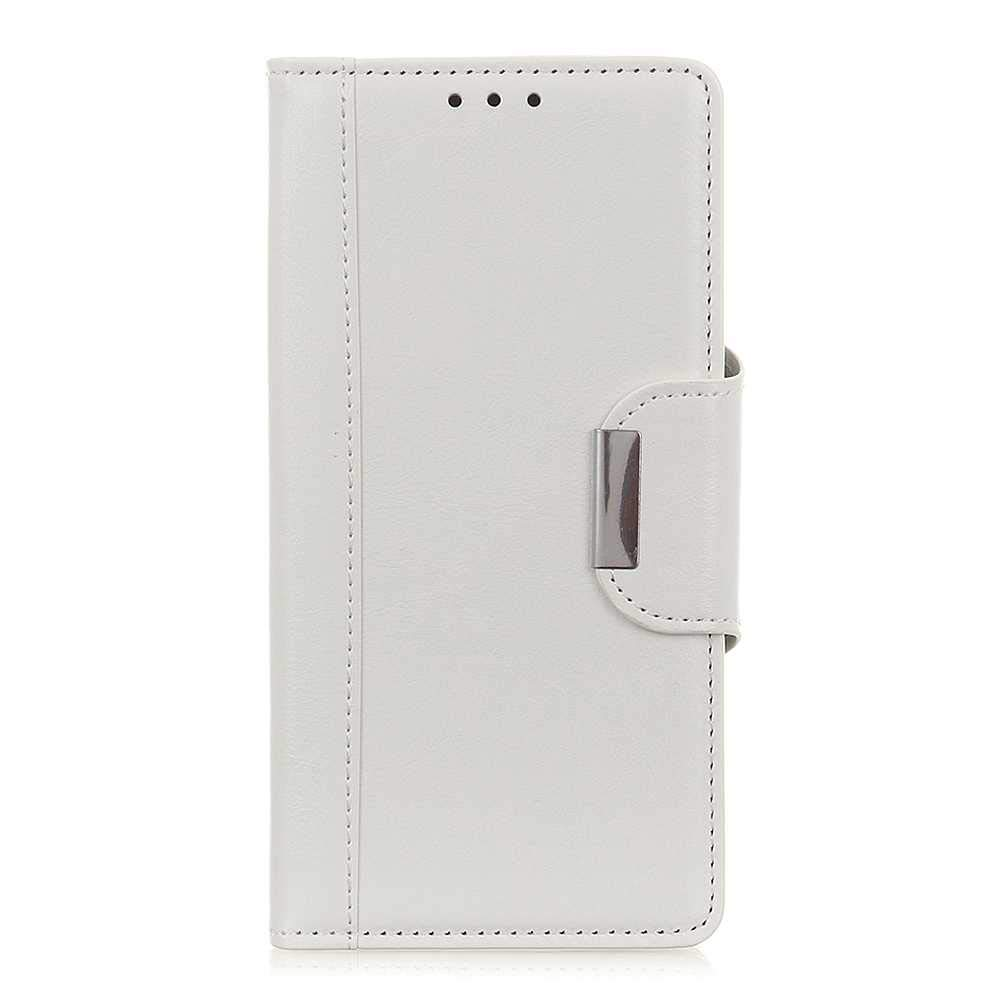 The Grafu Wallet Case for Samsung Galaxy A60, Folding Leather Protective Case, Strong Magnetic Closure Cover with Card Slots and Kickstand, White by The Grafu