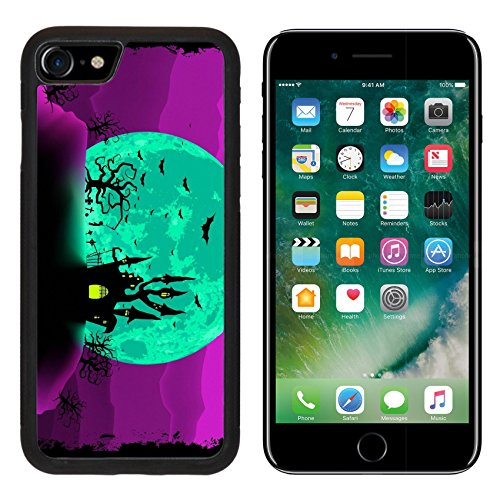 MSD Premium Apple iPhone 7 Aluminum Backplate Bumper Snap Case iPhone7 Scary halloween vector with magical abbey EPS 8 vector file included IMAGE
