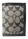 Coach Park Signature Passport Case Sv/black White/black F65699