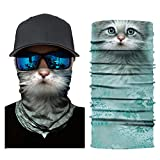 OWMEOT Stretchable Face Shield Mask Guards Balaclava Headwear for Camping,Running,Cycling, Biking, Motorcycling,Fishing,Hunting,Yard Working and Sun UV Protection (C)