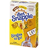 Diet Snapple Singles To Go Water Drink Mix - Half'n'Half Lemonade Tea Flavored Powder Sticks (12 Boxes with 6 Packets Each - 72 Total Servings)
