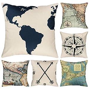 51gPaDUCPBL._SS300_ 100+ Nautical Pillows & Nautical Pillow Covers