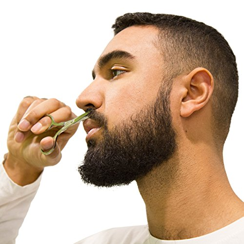 Beard Scissors Kit for Men (5 pcs) | 5'' Professional Beard/Hair Scissors (Japanese Stainless Steel), Travel Size Precision Beard/Mustache Scissor, Pocket Wood Comb, Master Barber Comb, and PU Case Set by Aberlite (Image #7)