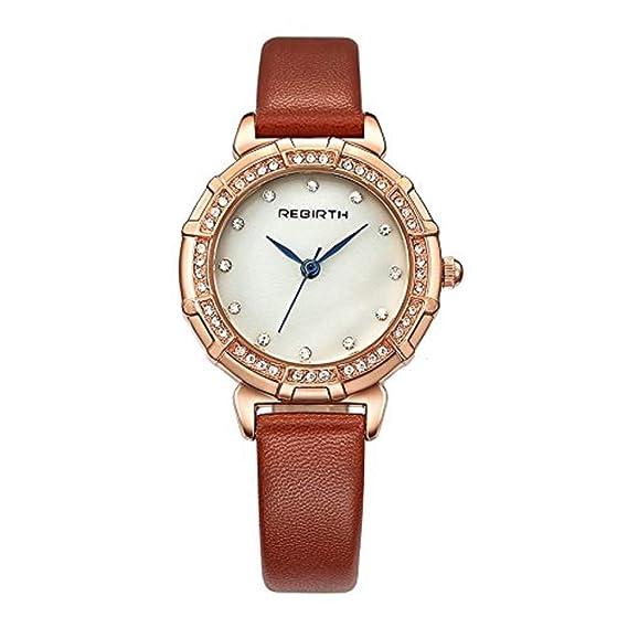 Amazon Com Women S Quartz Rhinestone Brown Watch Casual