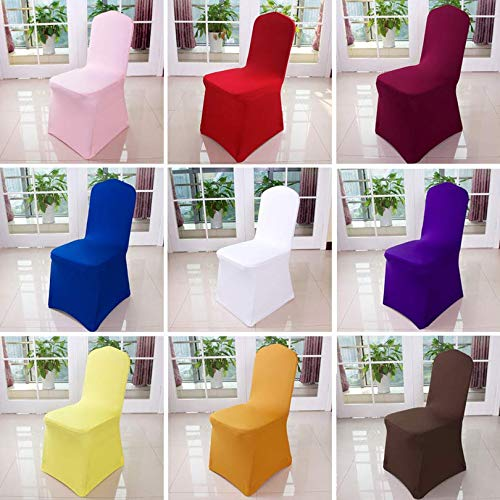 Amazon.com: Brngone Home Chair Cover Wedding Decoration Solid Colors ...