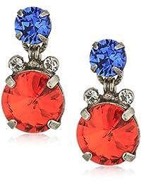 Orange Crush Round and Round Drop Earrings