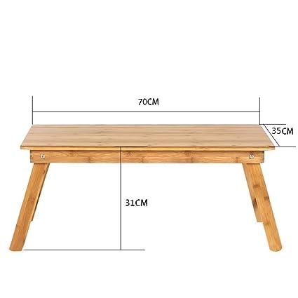 Escritorio de bambú para computadora portátil, escritorio de cama ...