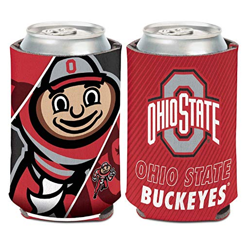 WinCraft NCAA Ohio State University Buckeyes 1-Pack 12 oz. 2-Sided Brutus Buckeye Design Can Cooler