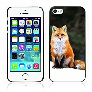 Hot Style Cell Phone PC Hard Case Cover // V0000980 Fox Animal Pattern // Apple Iphone 5 5S