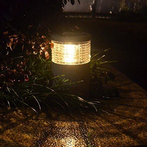 Bureze Lámpara de jardín Solar de Piedra Blanca cálida con luz LED para Exteriores, Resistente al Agua, de la Marca: Amazon.es: Hogar