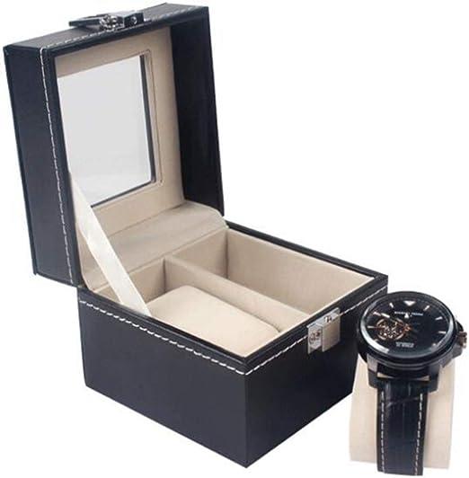 Meilandeng Cajas para Relojes Caja De Reloj De Cuero 2 bits PU ...