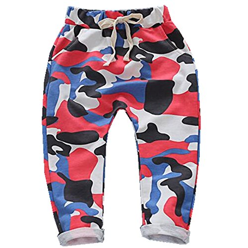 Ding-dong Baby Kid Boys Camouflage Harem Pants(Red,3T) (Any Day Chino Pants)
