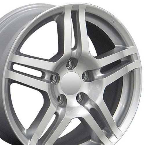 OE Wheels 17 Inch Fits Acura CL ILX Integra RL RSX TL TSX Honda Accord Civic CRV CR-Z Element Odyssey Prelude Acura Style AC04 Painted Silver 17x8 Rim