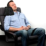 Travel Pillow | Memory Foam Side Sleeper Pillow for Airplane, Car, Bus or Train - Best Travel Pillow for Isle, Middle & Window - Neck Cushion | Black
