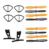 NiGHT LiONS TECH® Protection Cover and Landing Gear and 2 set main blades spare parts accessories for JJRC X1 2.4G 4CH 6 Axis Gyro Brushless Motor RC Quadcopter