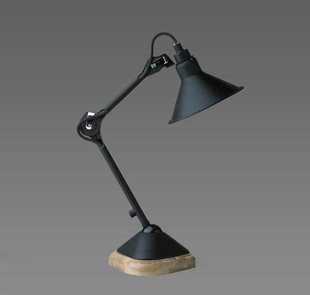 HYNH Amerikanischen Retro-minimalistisch kreative Arbeit Schreibtischlampe schwarz Schreibtischlampe Arm Kinder Tischlampe