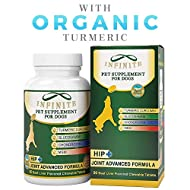 infinite pet has made a dog joint supplement with turmeric that is great for dog joint pain and is used as an arthritis dog supplement. it has been described by some as the missing link in their dog's vitamin regiment. it has glucosamine, cho...