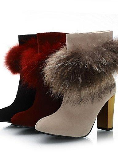 Tacón Mujer Zapatos Botas 5 Punta Rojo De Xzz Red Beige Robusto 5 us10 Redonda Eu37 Uk8 Casual A Sintético Beige Cn43 5 Vestido La Ante Cn37 us6 Uk8 Negro 5 Moda Eu42 7 5 Uk4 EqtadEc