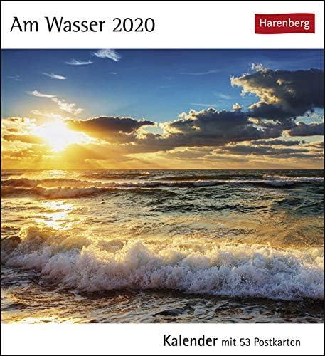Postkartenkalender Am Wasser - Kalender 2020 - Harenberg-Verlag - mit 53 heraustrennbaren Postkarten - 16 cm x 17,5 cm