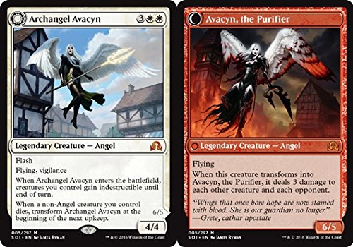 Magic: the Gathering - Archangel Avacyn // Avacyn, The Purifier (005/297) - Shadows Over Innistrad (Best White Angel Cards Mtg)