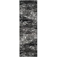 Safavieh Adirondack Collection ADR112A Silver and Black Modern Abstract Runner (26 x 18)