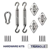 Windscreen4less Sun Shade Sail Hardware Kit - 6 Inches - Super Heavy Duty - For Triangle Sun Shade Sail