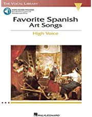 Favorite Spanish Art Songs: The Vocal Library High Voice