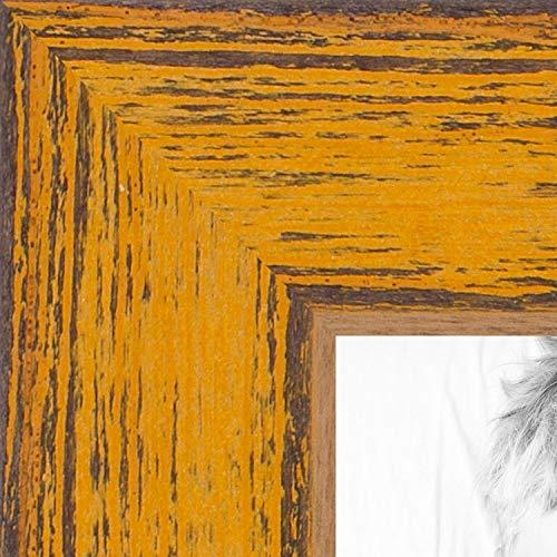 ArtToFrames WOM0066-77900-YYLW-11x14 Barnwood Wood Picture Frame, 11 x 14