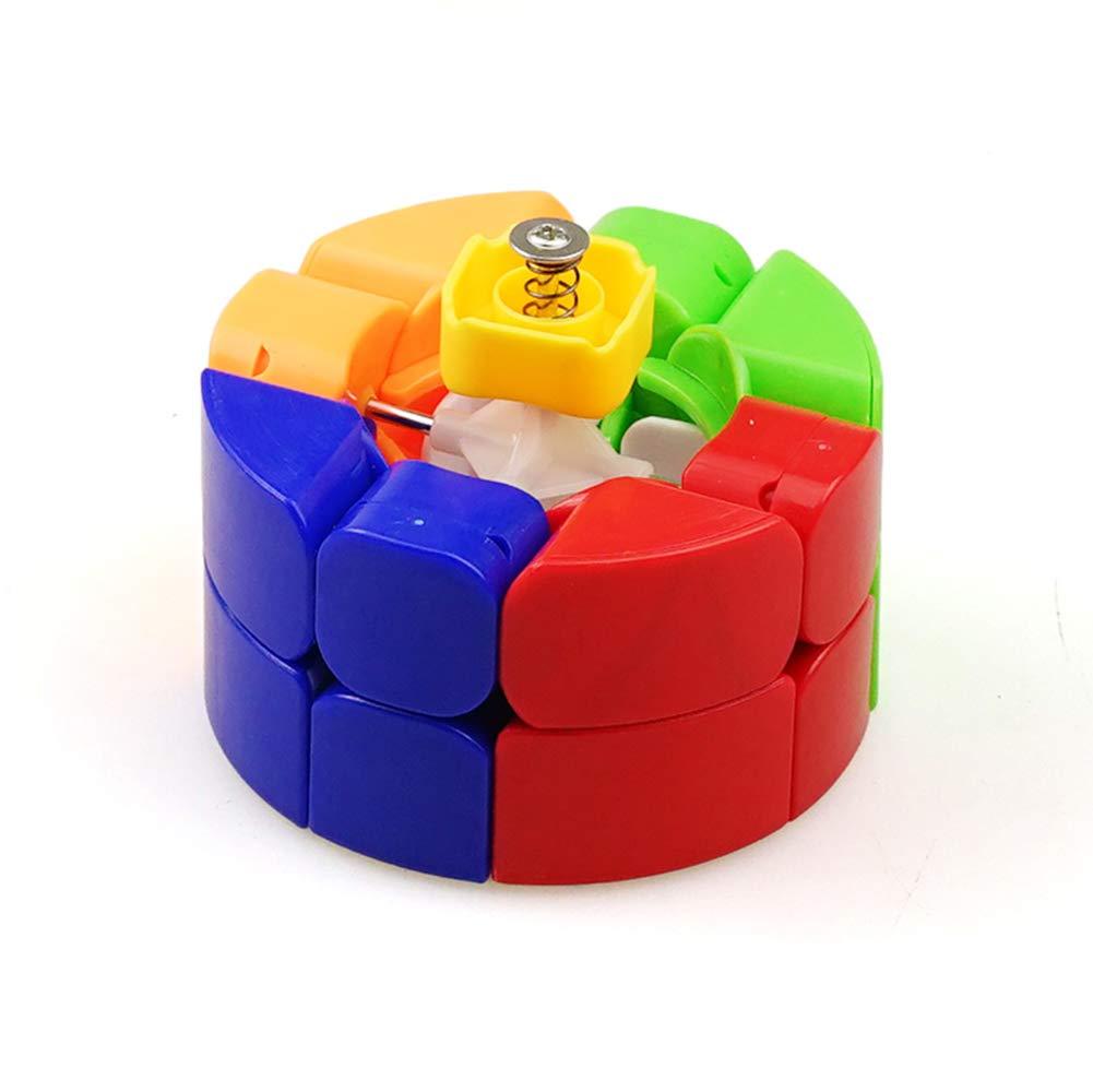 JIAAE 3X3 Zylinder Rubiks W/ürfel Kinder Puzzle Allotype S/äule Rubik Bunt Kein Fading Spielzeug