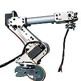 6 axis robot arm - HITSAN KDX DIY 6DOF Aluminum Robot Arm 6 Axis Rotating Mechanical Robot Arm Kit with 6 PCS Servo One Piece