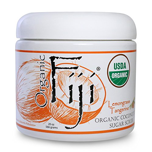 Organic Fiji Sugar Polish, Lemongrass Tangerine, 20-Ounces
