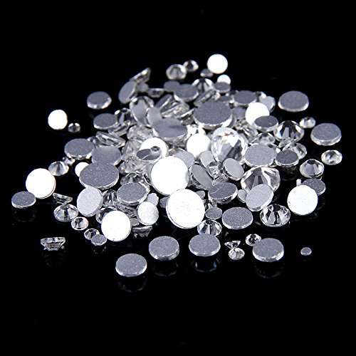 Nizi Jewelry Crystal Clear Rhinestones Strass Glass Stones For Nails Art Decorations ss3-ss50 (ss5 1440pcs) (Strass Glass)