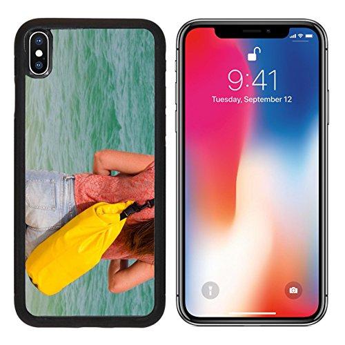 MSD Premium Apple iPhone X Aluminum Backplate Bumper Snap Case IMAGE ID: 10797724 close up outdoor shot of traveler - Shots Ass Back