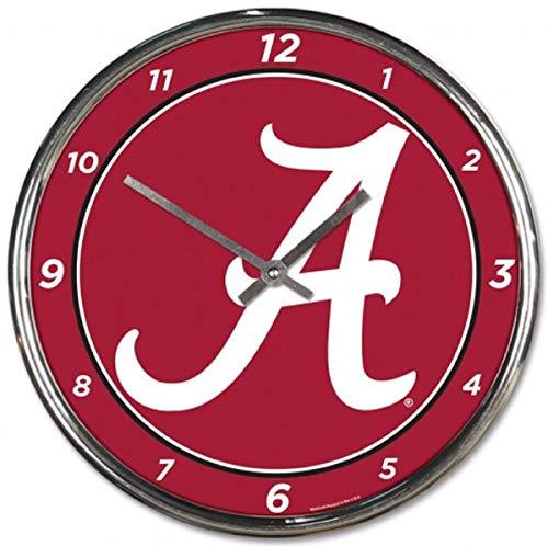 NCAA Alabama Crimson Tide Chrome Clock, 12