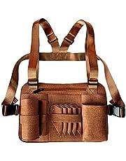 JUNWEN Scissor Holster Pouch Scissors Bag Kappers Kit Zakelijke Effen Kleur Rits Borstzak Drie-Layer Mezzanine Raster Design Schaar Bag Huisdier Grooming Bag