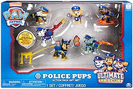 Paw Patrol Mighty Pups Exclusive Action Pack Gift Set Figure 6-Pack