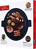 Utopia Kitchen Pre Seasoned Reversible Cast Iron Pizza Pan Grill and Griddle with Dual Handle Black, 13.5 -inch