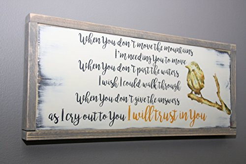 Trust in You lyrics handmade wooden sign by jumpingPineapple (Image #1)