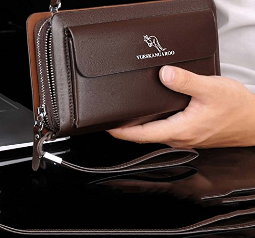 Noir PU Man Ydyg Bag En pour en Edition option cuir Pochette couleur Noir Man Fashion Marron xAqvaqYFd