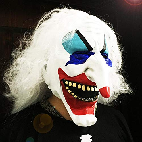 (YUFENG Halloween Clown Terrorist Masks,Creepy Scary or Funny Clown Latex Mask for Costume party or Cosplay (Long nose clown)