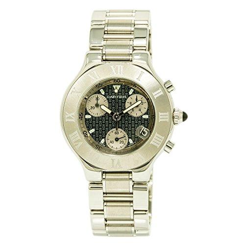 Cartier-Chronoscaph-21-quartz-mens-Watch-2424-Certified-Pre-owned