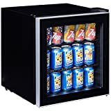 Costway 60 Can Beverage Refrigerator Portable Mini Beer Wine Soda  Deal (Small Image)