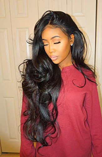 ISEE Hair 8A Unprocessed Brazilian Virgin Body Wave Human Hair 3 Bundles 100% Unprocessed Human Hair Extensions Natural Black (18