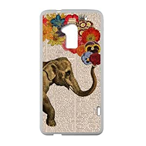 Elephant Floral Newspaper Personalized Custom Case For HTC One Max