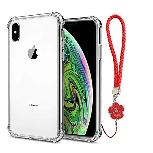 (Calmpal iPhone Xs Max Case, [Invisible Armor] Xtreme Slim, Clear, Soft, Lightweight,Shock Absorbing TPU Bumper Cover Case with Quick Released Wrist Strap for iPhone Xs MAX (2018))