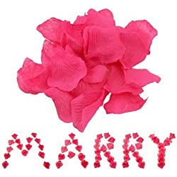 2000 Silk Rose Petals Wedding Decorations Bulk Supplies SALE - Hot Pink