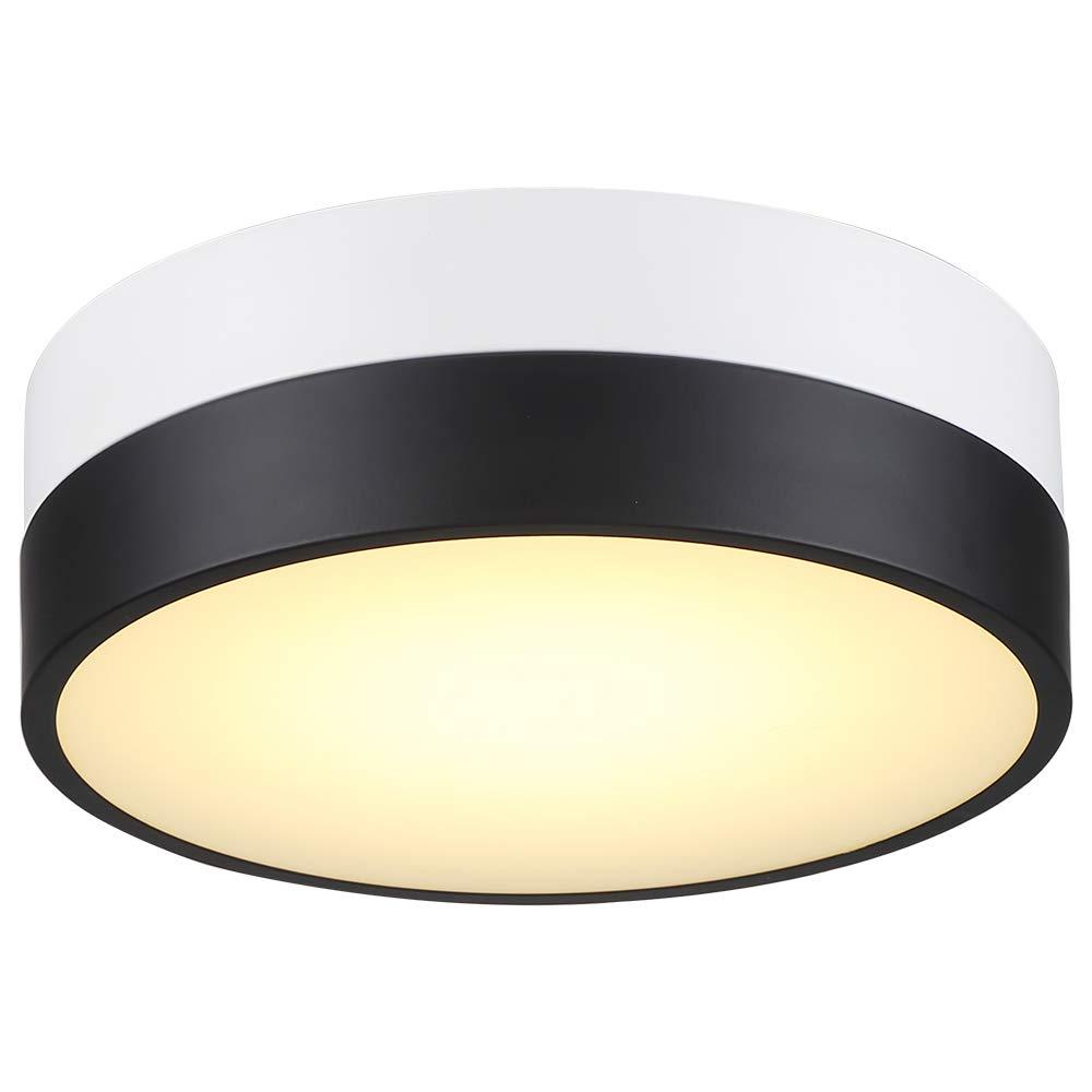 COTULIN Modern Design Ceiling Light,11.8 inch LED Ceiling Lights Fixture,Black White Ceiling Lamp for Bathroom,Living Room,Hallway