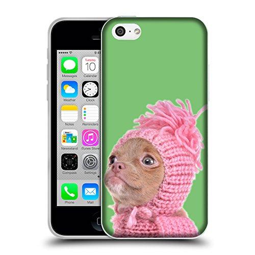 GoGoMobile Coque de Protection TPU Silicone Case pour // Q05690629 Chihuahua chapeau Pastel verde // Apple iPhone 5C