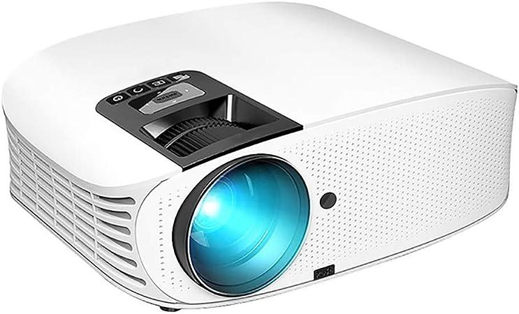 Proyector de Video HD Proyector LED 4000 Lumen con AV/VGA/USB/HDMI/TF Conexión a TV Stick/Chromecast,Blanco: Amazon.es: Hogar